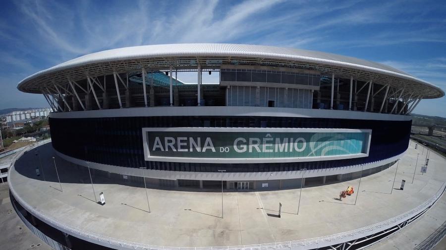 Arena do Grêmio volta a receber jogos do time tricolor após 140 dias - Wesley Santos/Drone Service Brasil/ Divulgação