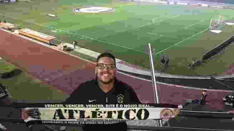 Cantor Felipe Hott viaja para acompanhar o Atlético-MG ao redor do Brasil - Arquivo Pessoal - Arquivo Pessoal