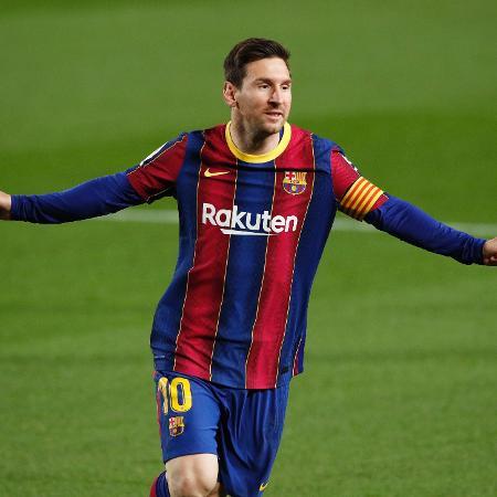 Messi fez dois gols contra o Getafe no Campeonato Espanhol - ALBERT GEA/REUTERS