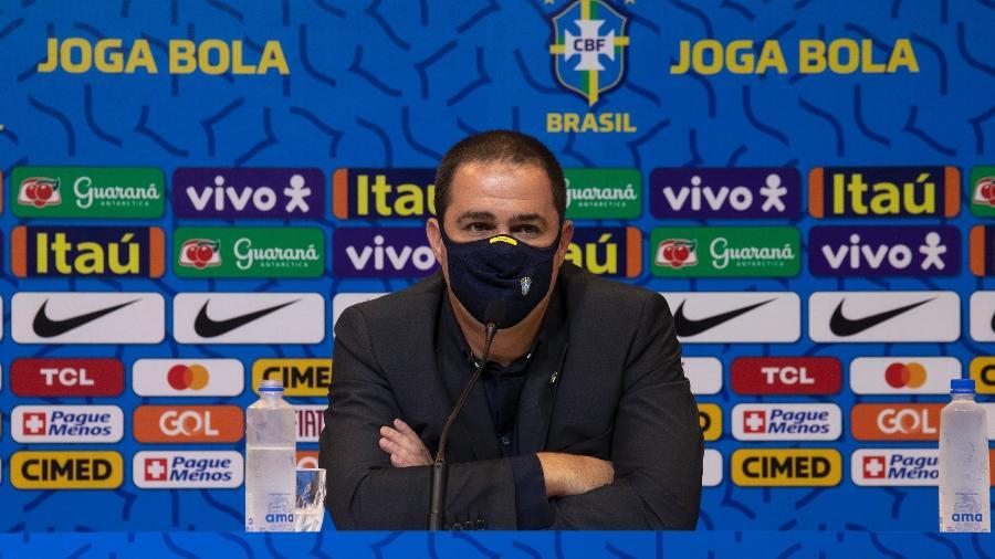 Técnico André Jardine convocou hoje a seleção brasileira para as Olimpíadas de Tóquio - Lucas Figueiredo/CBF