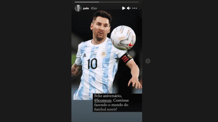 Pelé Messi - Reprodução/Instagram - Reprodução/Instagram