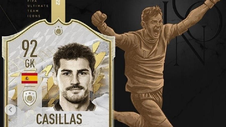 Casillas será um dos icons (ídolos) do Fifa 2022, que será lançado em outubro - Reprodução/Instagram