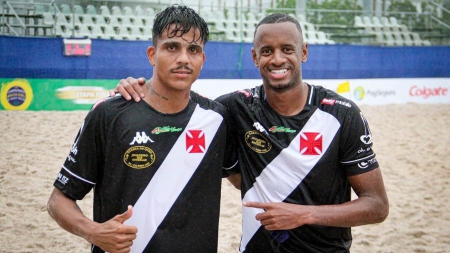 Mauricinho e Catarino: 2 dos 3 jogadores do Vasco que estão na lista dos 100 melhores do mundo no Beach Soccer - Arquivo Pessoal
