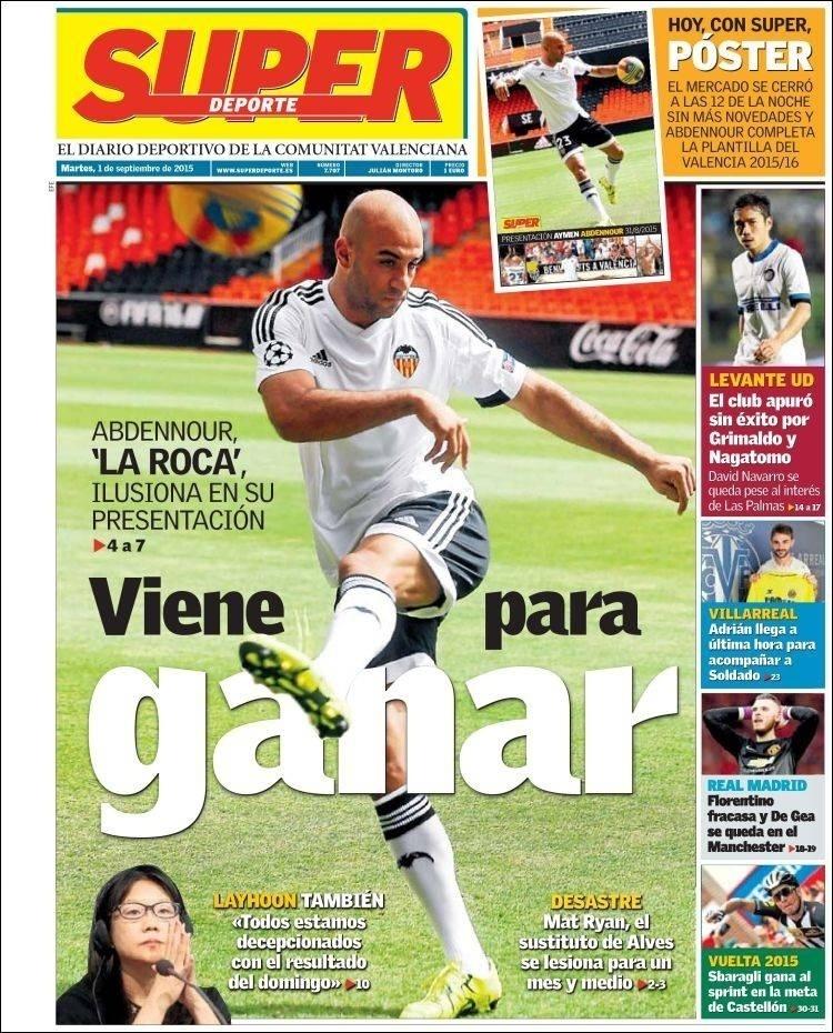 Super Deporte (Valência, Espanha): 'Florentino fracassa e De Gea fica no Manchester United'