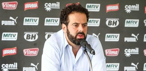 Presidente do Atlético-MG, Daniel Nepomuceno, em entrevista na Cidade do Galo