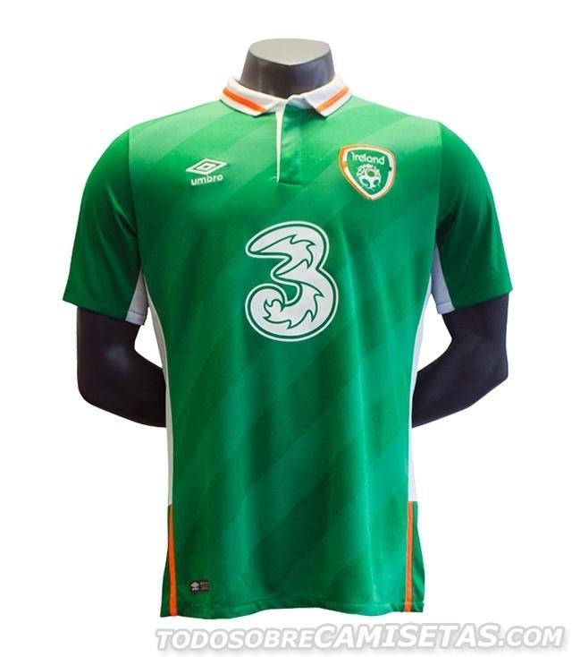 GRUPO E: Irlanda (camisa titular, Umbro)