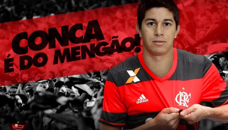 Flamengo anuncia a contratação de Conca