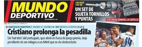 Mundo Deportivo repercute atuação de Cristiano Ronaldo