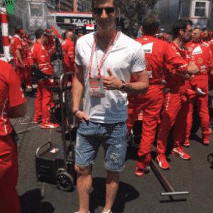 Robert Lewandowski, centroavante do Bayern de Munique, deu um pulinho até Mônaco para acompanhar o GP da Fórmula 1 - Reprodução/Instagram