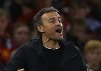 """Invicto no comando da Espanha, Luis Enrique avalia: """"gostei da atitude"""" - GEOFF CADDICK / AFP"""