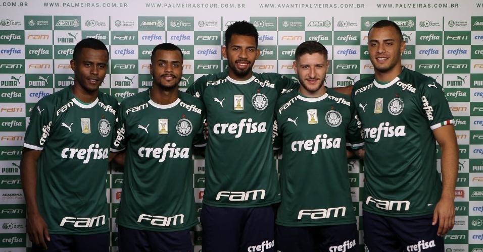 Reforços do Palmeiras já foram apresentados com o novo uniforme da Puma 49af52aad14cb