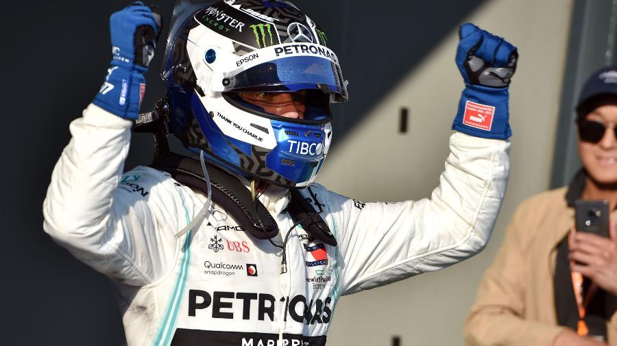 Bottas comemora vitória no GP da Austrália - PETER PARKS/AFP