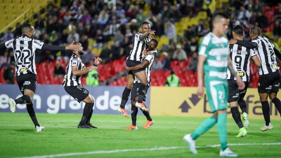 Jogadores do Atlético-MG celebram gol sobre o Deportivo La Equidad - Bruno Cantini/Divulgação/Atlético-MG