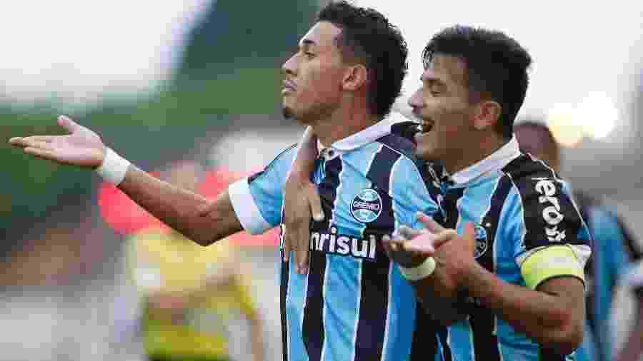 Grêmio comemora vitória sobre o Vasco nos pênaltis, após 1 a 1 no tempo normal; Rildo marcou - WILIAN OLIVEIRA/FUTURA PRESS/FUTURA PRESS/ESTADÃO CONTEÚDO