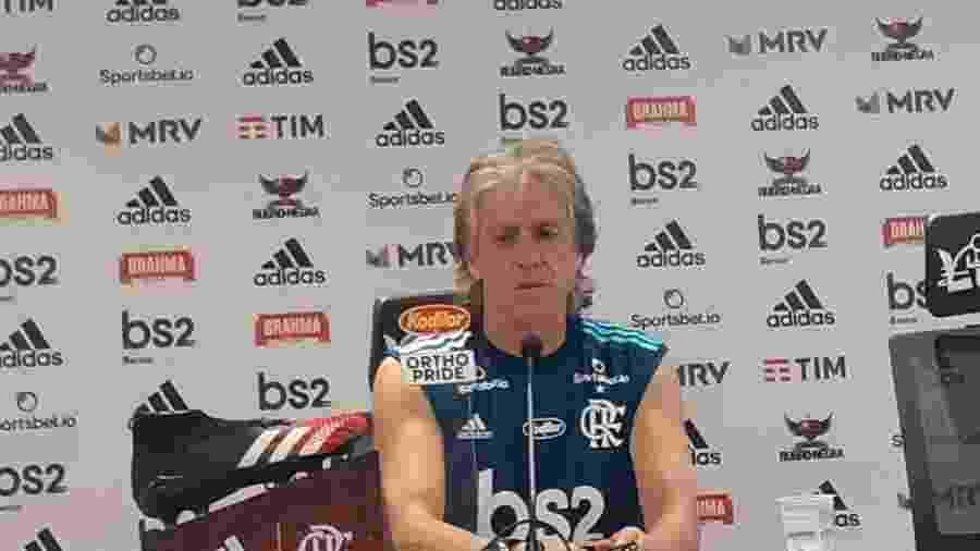 Jorge Jesus afirmou que o Carioca será uma pré-temporada para o Flamengo - Léo Burlá/UOL Esporte