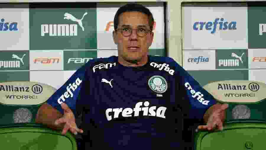 Vanderlei Luxemburgo, técnico do Palmeiras, na partida contra o Guarani - Bruno Ulivieri/AGIF