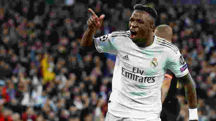 Vinícius Júnior é um dos jogadores que pretende a dupla nacionalidade no Real Madrid - Juan Medina/Reuters