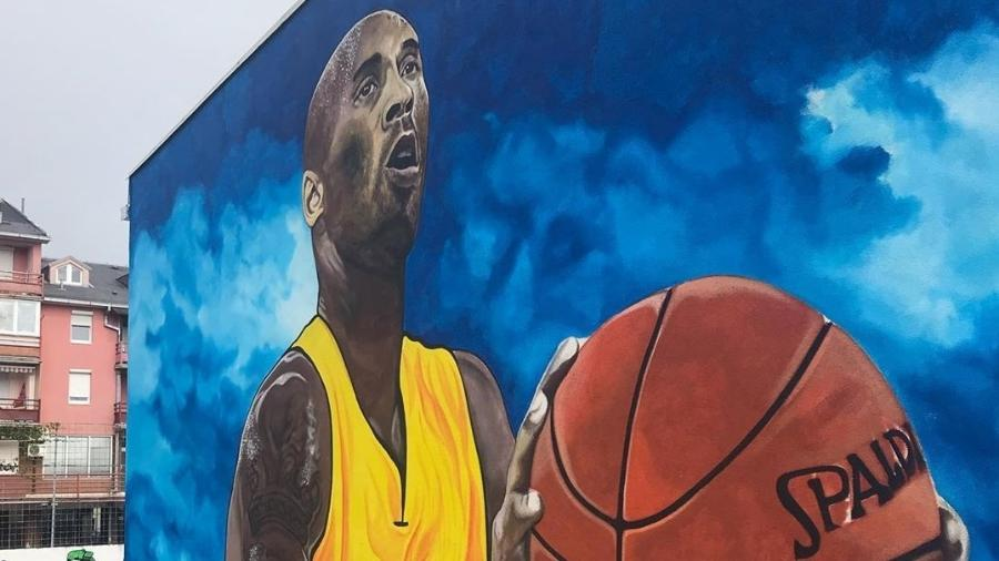 Mural de Kobe Bryant feito na Bósnia - Reprodução/Instagram