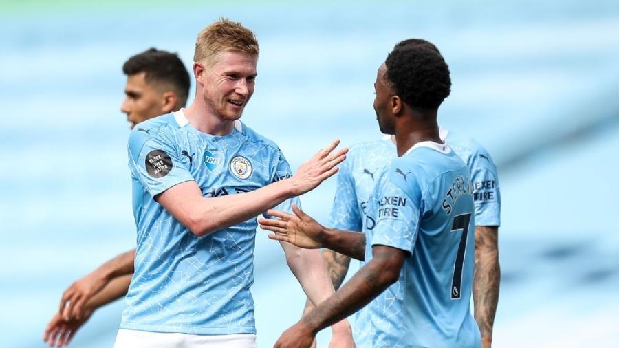 Kevin De Bruyne deu 20 assistências pelo Manchester City no Campeonato Inglês 2019/20 - Robbie Jay Barratt / Getty Images