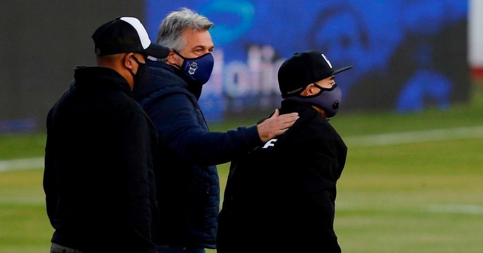 Maradona em homenagem aos seus 60 anos, em outubro de 2020