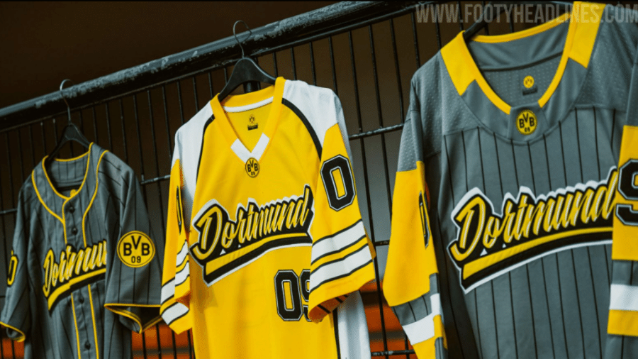 Nova linha de camisas do Borussia Dortmund é inspirada em esportes norte-americanos - Reprodução/FootyHeadlines.com