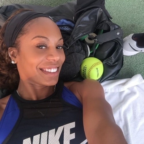 Sanya Richards-Ross, mulher de Aaron Ross, do Cleveland Browns