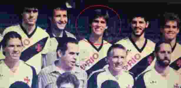 Milton Mendes (em destaque) acima de um jovem Eurico Miranda na década de 80 - Divulgação / Site oficial do Milton Mendes - Divulgação / Site oficial do Milton Mendes