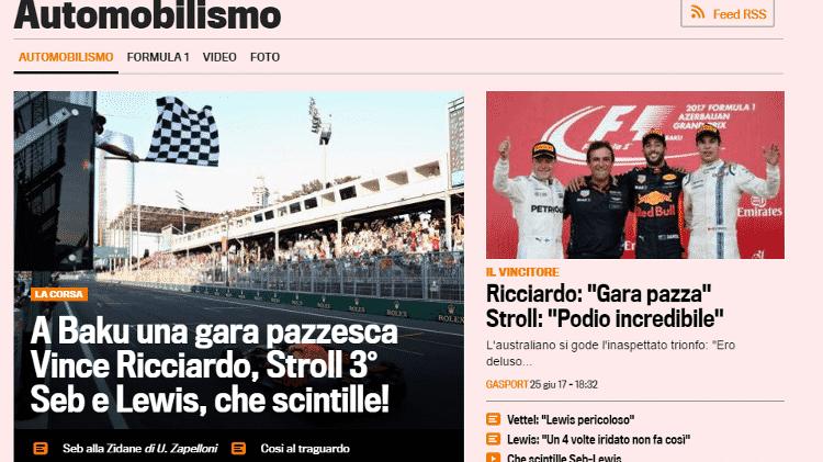 Reprodução/Gazetta Dello Sport