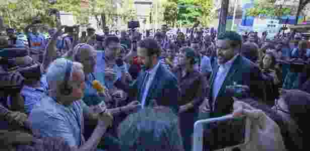 Presidente saiu emocionado e teve seu nome gritado pela torcida que foi à sede do Galo - Bruno Cantini/Clube Atlético Mineiro