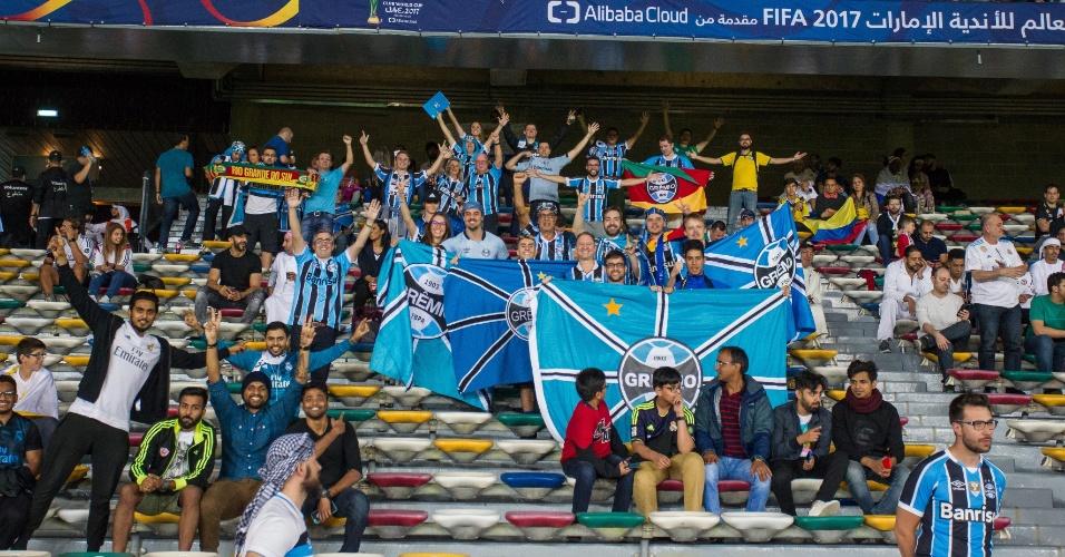 Torcedores do Grêmio marcam presença no estádio que sediará a final do Mundial de Clubes