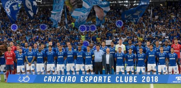 4adf7d770e Uniforme do Cruzeiro em estreia no Mineiro tem problema com patrocinador