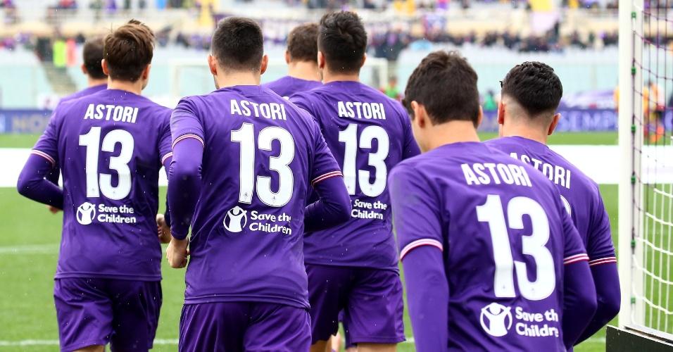 Atletas da Fiorentina entraram com a camisa 13, que era de Astori