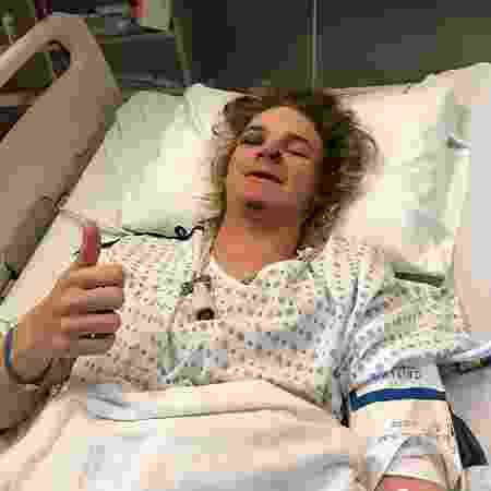Brock Crouch foi levado ao hospital após sobreviver a avalanche - Reprodução/Instagram - Reprodução/Instagram