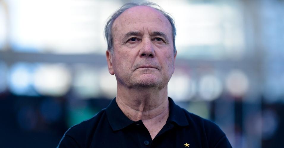 O técnico Levir Culpi reestreou pelo Atlético-MG no jogo contra o Fluminense