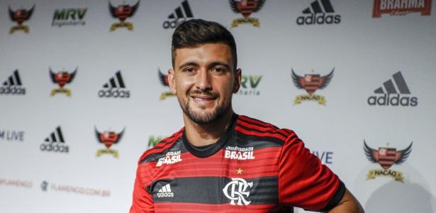De Arrascaeta é apresentado oficialmente no Flamengo nesta segunda (14) - Marcelo Cortes / Flamengo.com.br
