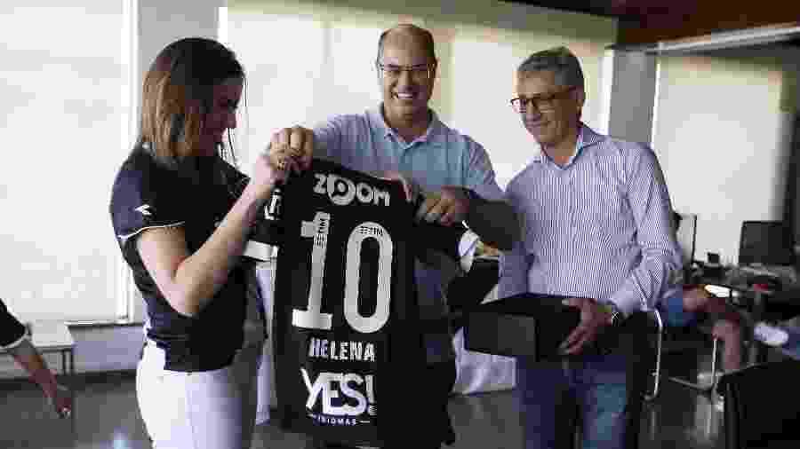 Wilson Witzel já foi recebido em São Januário e ganhou camisa do Vasco das mãos de Campello - Rafael Ribeiro/Vasco.com.br