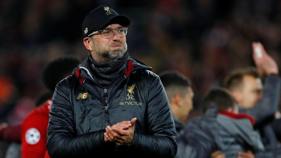 Jurgen Klopp, técnico do Liverpool após classificação na Champions - Phil Noble/Reuters