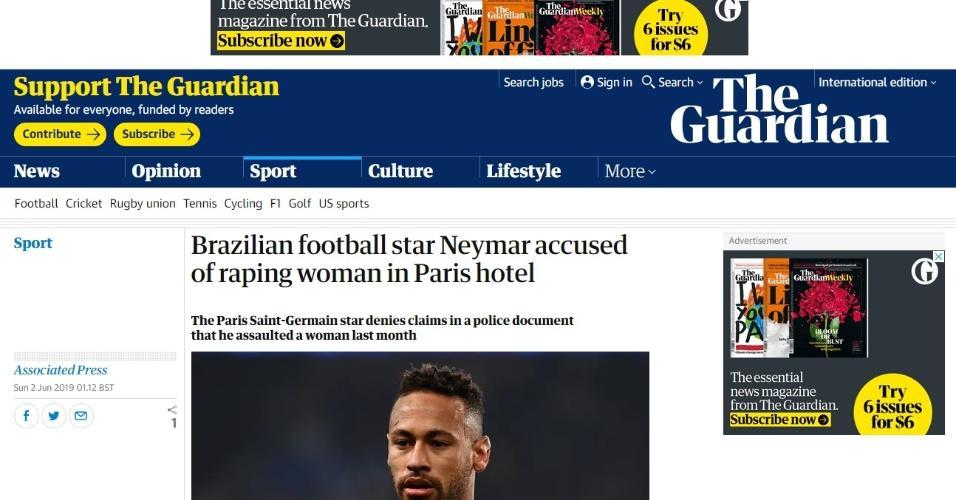 Como jornais repercutiram acusação a Neymar - The Guardian