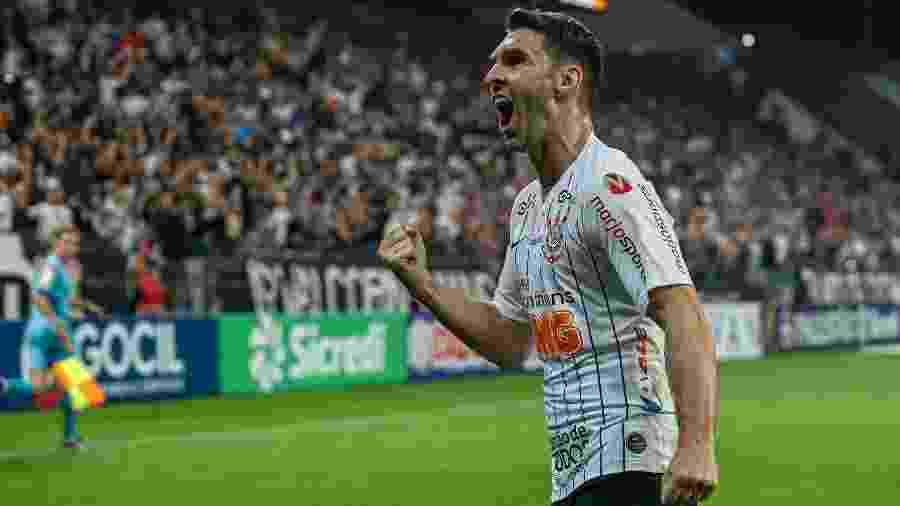 Boselli comemora gol do Corinthians sobre o Botafogo-SP, no primeiro jogo oficial do time em 2020 - BETO MILLER/AM PRESS & IMAGES/ESTADÃO CONTEÚDO