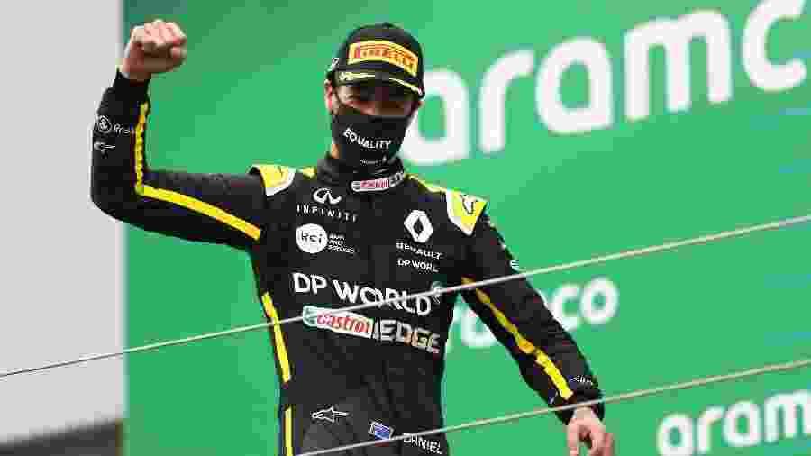Daniel Ricciardo conquistou o terceiro lugar no GP de Eifel - Pool/Getty Images