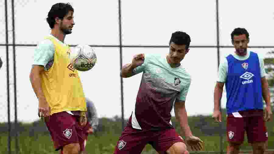 Recuperados de covid-19, Hudson e Egídio voltaram a treinar no Fluminense - Mailson Santana/Fluminense FC