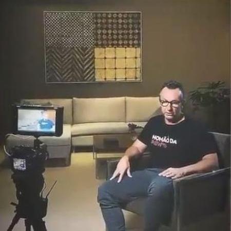 Neto grava depoimento para o documentário do Corinthians no Globoplay - Reprodução