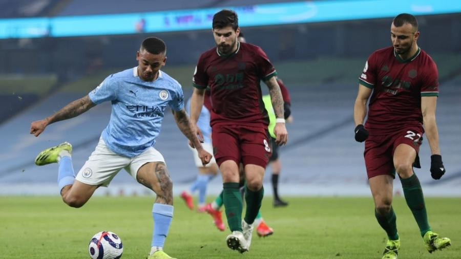Manchester City e Wolverhampton jogam pelo Campeonato Inglês - Clive Brunskill/Getty Images
