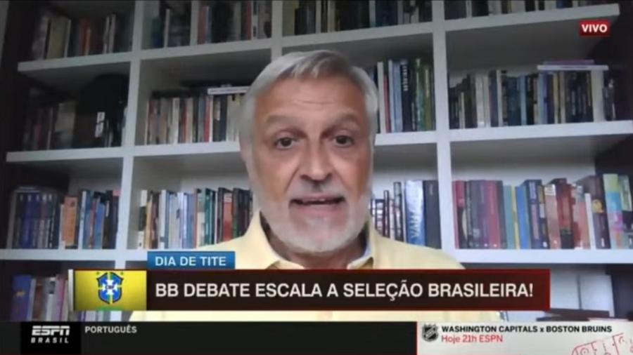 Fábio Sormani critica produção da ESPN por errar sua escalação de possível seleção brasileira - Reprodução/ESPN