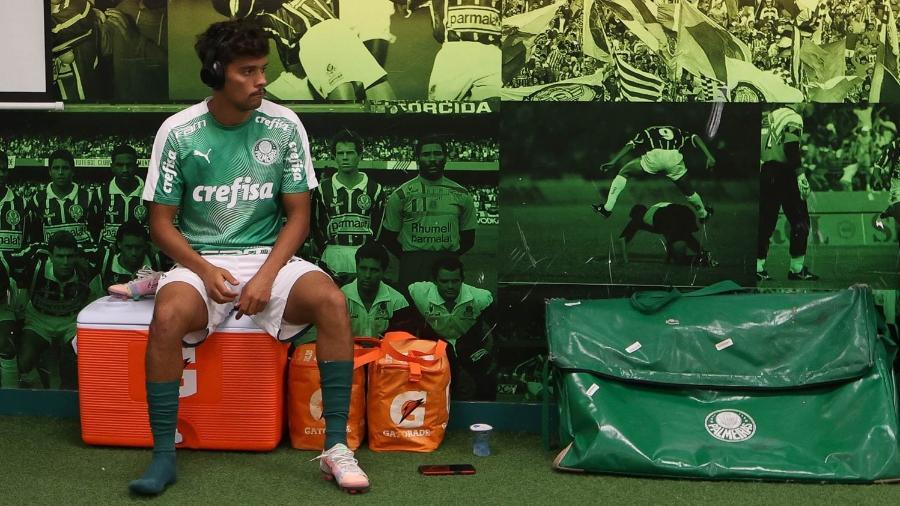 Gustavo Scarpa antes do clássico do Palmeiras contra o Santos, no Allianz Parque - Cesar Greco