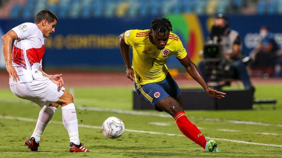 Colômbia e Peru jogam pelo terceiro lugar da Copa América, hoje (9), em Brasília - Heber Gomes/AGIF