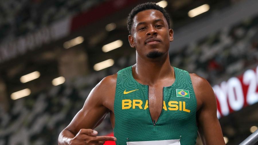 Paulo André disputa as eliminatórias dos 100m nas Olimpíadas de Tóquio - Wagner Carmo/CBAt