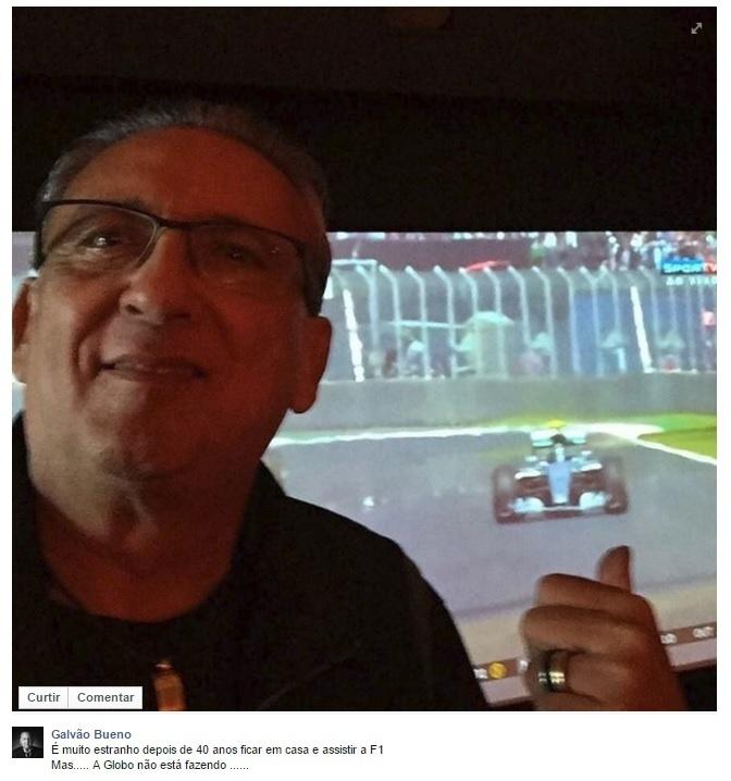 Galvão Bueno 'corneta' decisão da Rede Globo