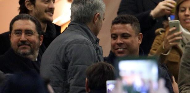 Ronaldo assistiu ao jogo da Inter de Milão x Sampdoria (20/02/2016)