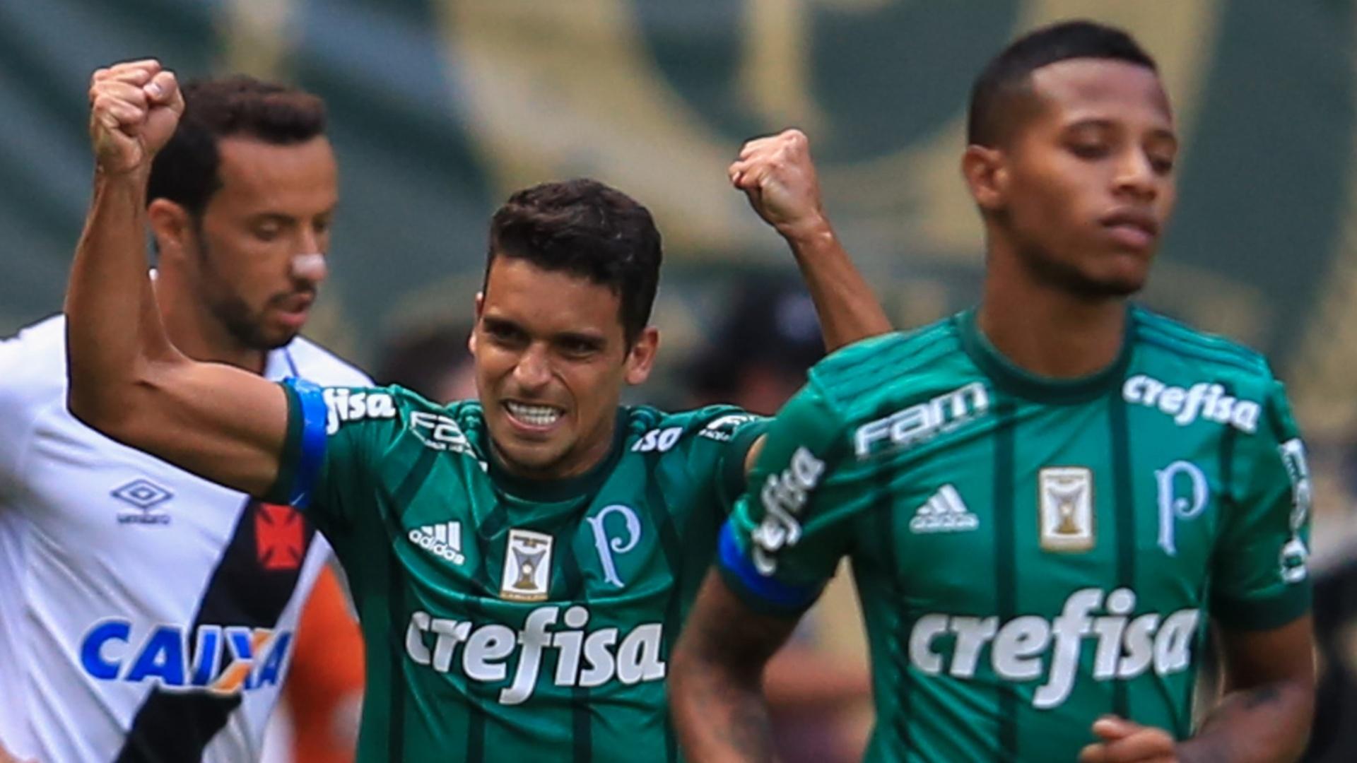 Jean comemora gol do Palmeiras, o primeiro no Brasileiro-2017
